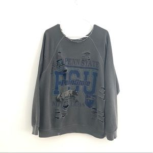 FurstOfAKind Penn State Distressed Graphic Sweater